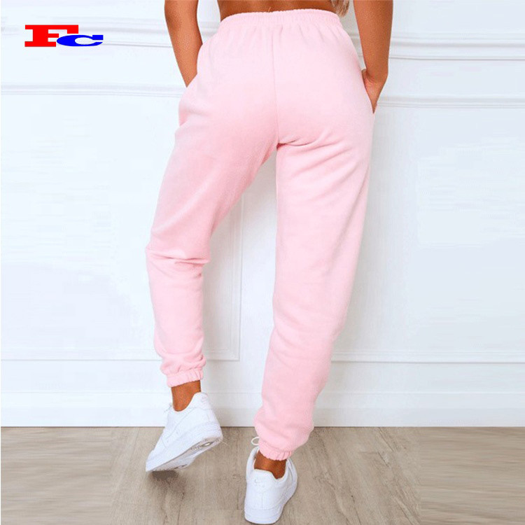 Hot Sales Casual French Terry Pants Baggy  Drawstring Sweatpants Custom Joggers Women