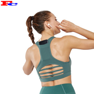 Girl Sports Vest  Yoga Gym Bra Wholesale Custom Logo