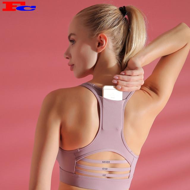 Girl Sports Vest  Yoga Gym Bra Wholesale Custom Logo