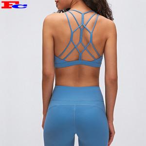 Hot Selling Yoga Bra Cross Back Workout Fitness Active Wear Women