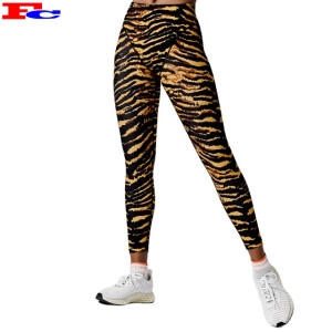 Full Length Women Compression Pants Sports Leggings High Waist Yoga Pants Wholesale