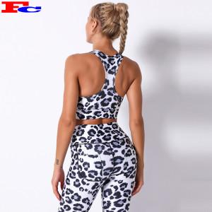 Women Quick-drying Bra Fitness Print Leopard Yoga Bra Activewear Manufacturer China
