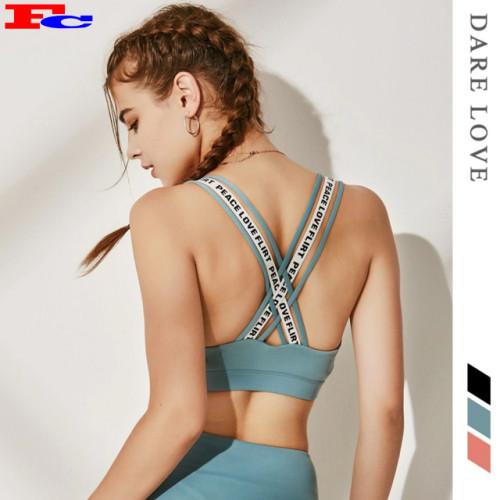 High Quality Trendy Sport Bras Active Wear Street Wear Crop Tops Fitness Bra Sport Woman