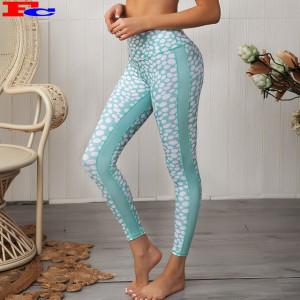 2020 New Sublimation Mesh Patchwork Gym Leggings Yoga Pants Mesh