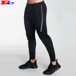 Fitted Gym Sweat-wicking Sports Running Training Jogger Pants Men With Zipper Pocket
