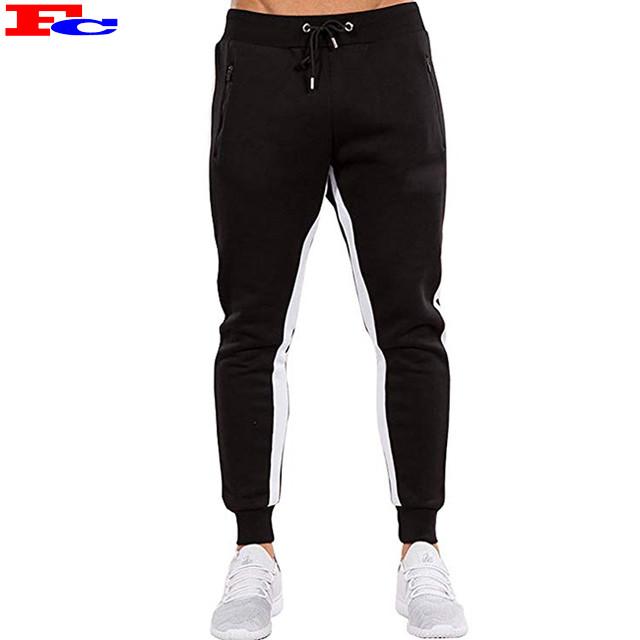 Custom LOGO Men's Slim Fit Gym Zipper Pockets  Jogger Pants Sweatpants Wholesale China