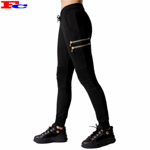 Custom Logo Sportswear Zip Pocket Design Wholesale Sweatpants Ladies