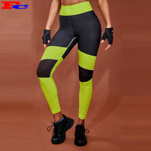 Wholesale Custom Logo Workout Gym Tights Running Combined Color Sport Yoga Leggings