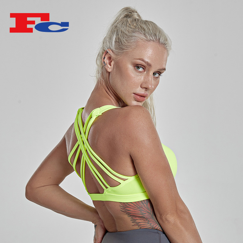 China Custom Logo ODM&OEM Sports Bra Bulk Buy Cross Strap Sports Bra For Workout Fitness