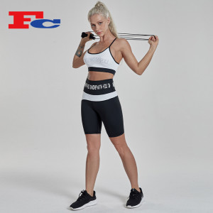 Shorts Set Women Sport Bra And Biker Shorts Outfit Activewear Sets Manufacturer