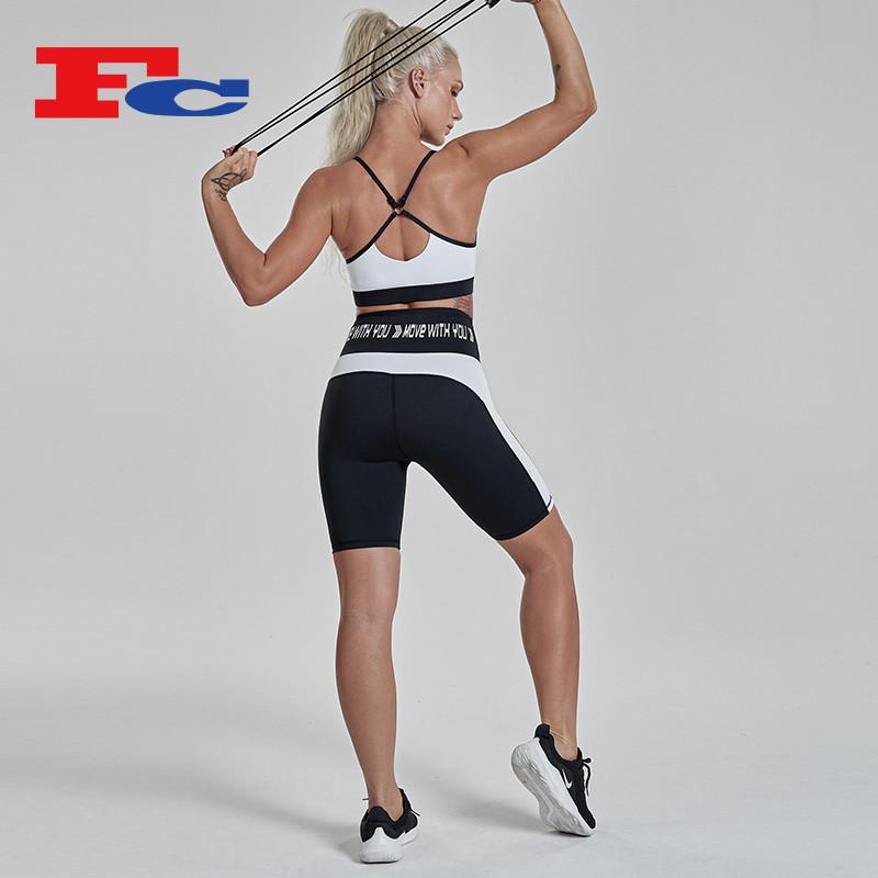 Shorts Set Women Sport Bra And Biker Shorts Outfit Activewear Sets Manufacturer
