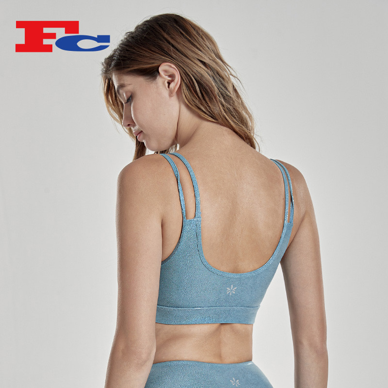 Wholesale Sports Bra Hot Stamping Reflective Yoga Bra Tops For Women