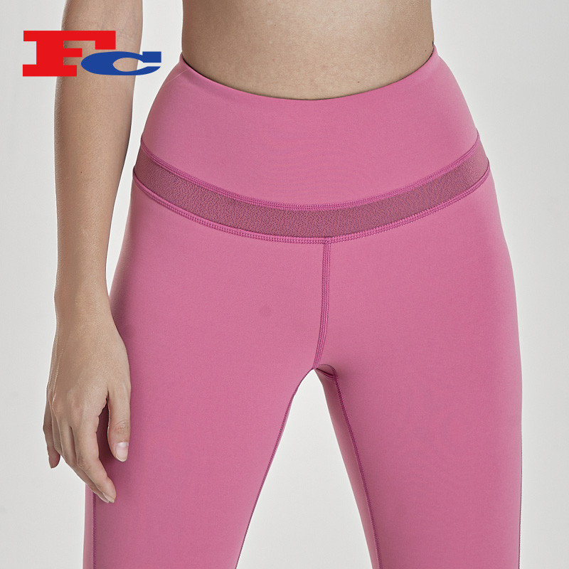 Magenta Workout Tights For Women Yoga Pants Manufacturers China
