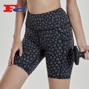 Custom Shorts Manufacturer Leopard Print Sport Shorts For Women
