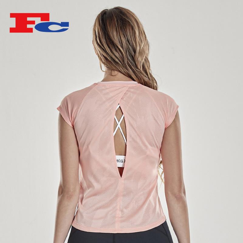 T Shirt manufacturer China Mesh Breathable Perspiration T Shirt Maker