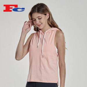 Summer Fashion Sleeveless T-Shirt Slim Fit Sleeveless Hoodie Women