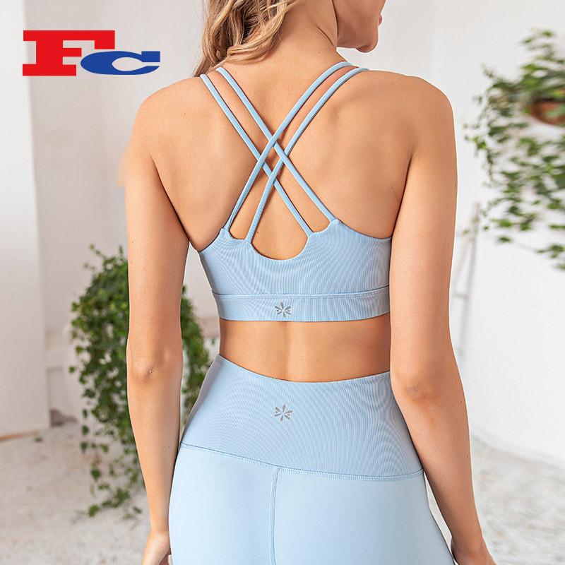 Wholesale Women's Yoga Sets Hang Strip Sports Bra Set Manufacturer