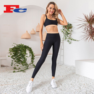 Wholesale Gym Clothing Suppliers Stitching Contrast Color Workout Yoga Wear For Women