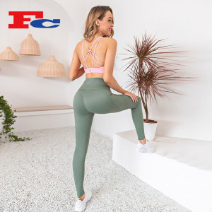 Peach Hip Lift Leggings Set Fitness Wear Manufacturers In China