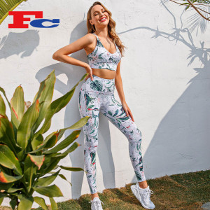 Tropical Rainforest Fashion Digital Printing Yoga Clothing Supplier