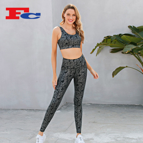 Snake Print Sexy Workout Running Fitness Clothing Manufacturer China