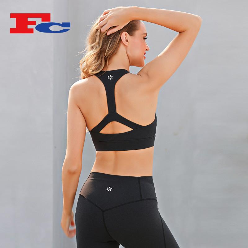 I-Shaped Beautiful Back Sports Bras Set Private Label Activewear Manufacturer