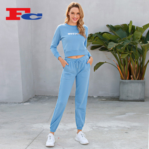 Loose Round Neck Top Tracksuit Wholesale Autumn And Winter 2 Pcs Ins Trend