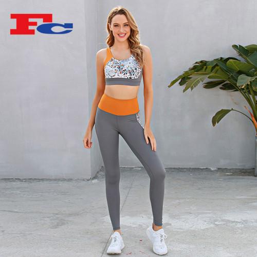 Contrasting Digital Printing Activewear Apparel Wholesale For Women