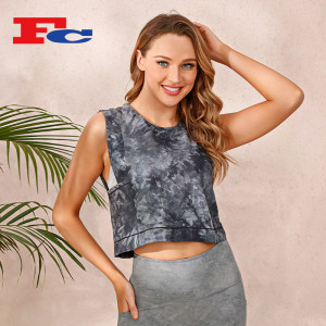 Individual Ink Tie-Dye Crop Top Wholesale Supplier Tank Top Women's Workout