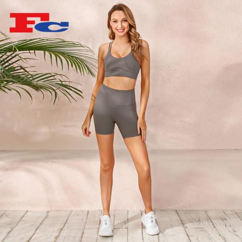 Workout Clothing Bulk Wholesale Fashion Sexy Biker Shorts Set For Women