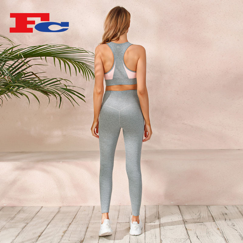 Stitching Contrast Color Design Gym Wear --Private Label Services