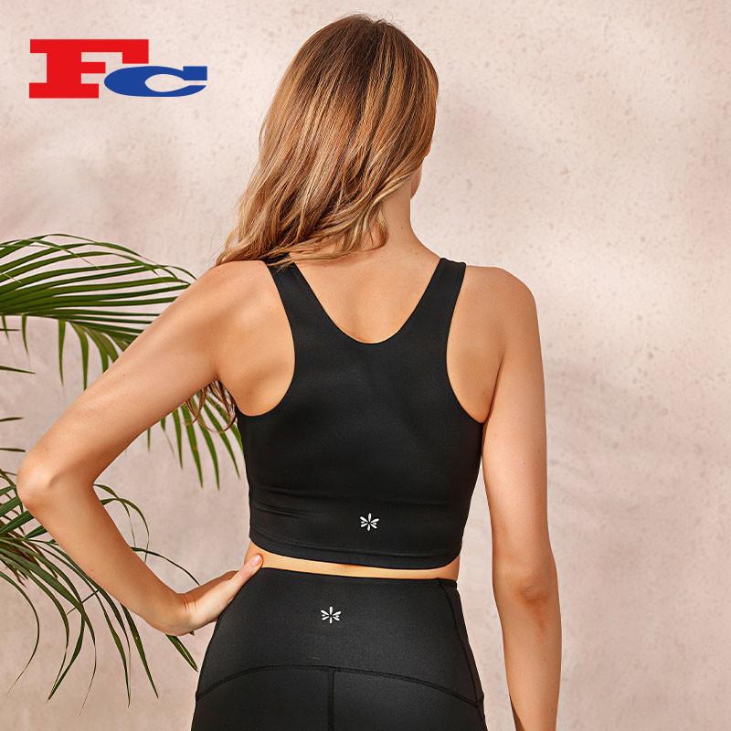 Wholesale Crop Top Women's Sleeveless Running Fitness T Shirts Quick-Dry Yoga Tank Tops