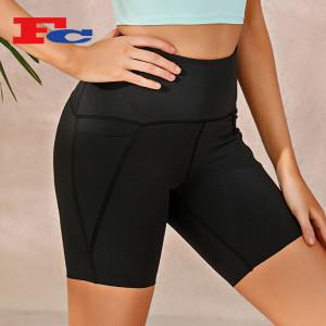 Wholesale Biker Shorts Side Pocket Hip Lift Design--Private Label Services