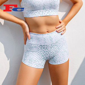 Shorts Wholesale Bulk Leopard Digital Print Peach Hips