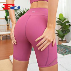 Biker Shorts Bulk Order Custom Stretch Pit Article Ribbed Yoga Short