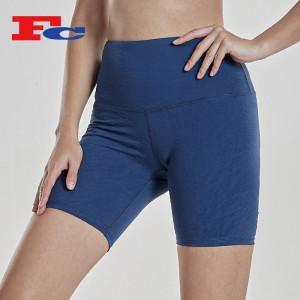 Plain Biker Shorts Wholesale Custom  Jacquard Printed Compression Shorts For Women