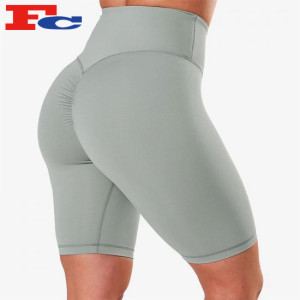 Bulk Of Biker Shorts Peach Scrunch Butt High Waisted Yoga Shorts