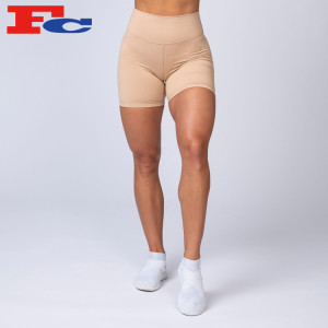 High Waisted Biker Shorts Length Scrunch Booty Fitness Gym Shorts Manufacturer