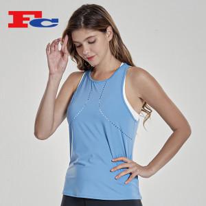 Custom Women's Crop Top Spandex Running Quick Dry Tank Top T Shirt Suppliers