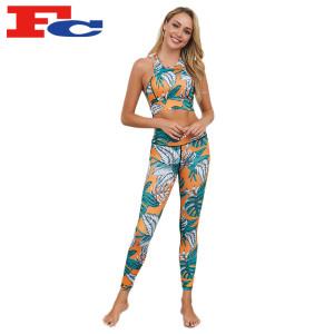 Yoga Wear Wholesale Manufacturer Women Full Scrunch Butt Sexy Leggings Sets