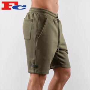 Mens Fleece Shorts Bulk Tapered Men Gym Shorts Manufacturer