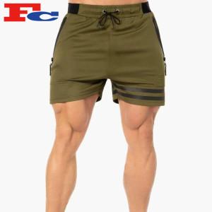 Wholesale Men Sweat Shorts Fitness Sports Plus Size Heat Seal Zipper Training Shorts