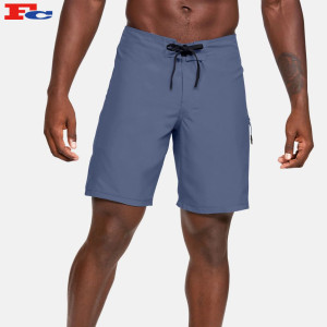 Wholesale Mens Drawstring Shorts Polyester Athletic Gym Shorts With Side Zipper Pocket