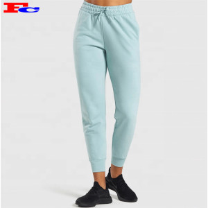 Custom Sweatpants Elasticated Drawstring Waistband French Terry Streetstyle Joggers For Women