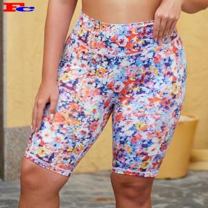 Workout Shorts Bulk Plus Size Digital Printing Shorts For Women
