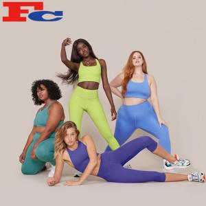 Custom Athletic Wear Manufacturer Women Yoga Fitness Set Plus Size