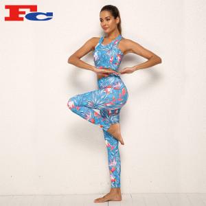 Custom Print Athletic Wear Yoga Sets For Women