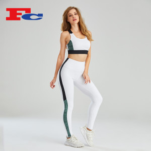 Wholesale Private Label Fitness Clothing Contrast Stitching Design
