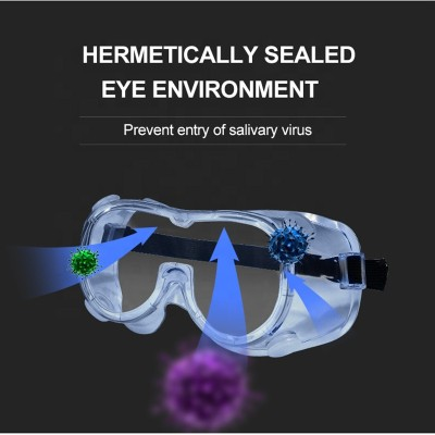 Virus protection glasses safety goggles for medical purpose anti-fog