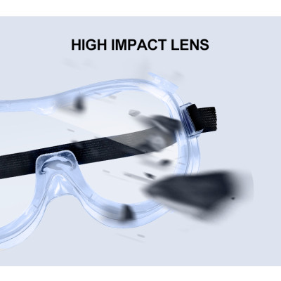 Wholesales Wide Vision Protective Safety Goggles Disposable Indirect Vent Anti-Fog Splash Goggles Glasses